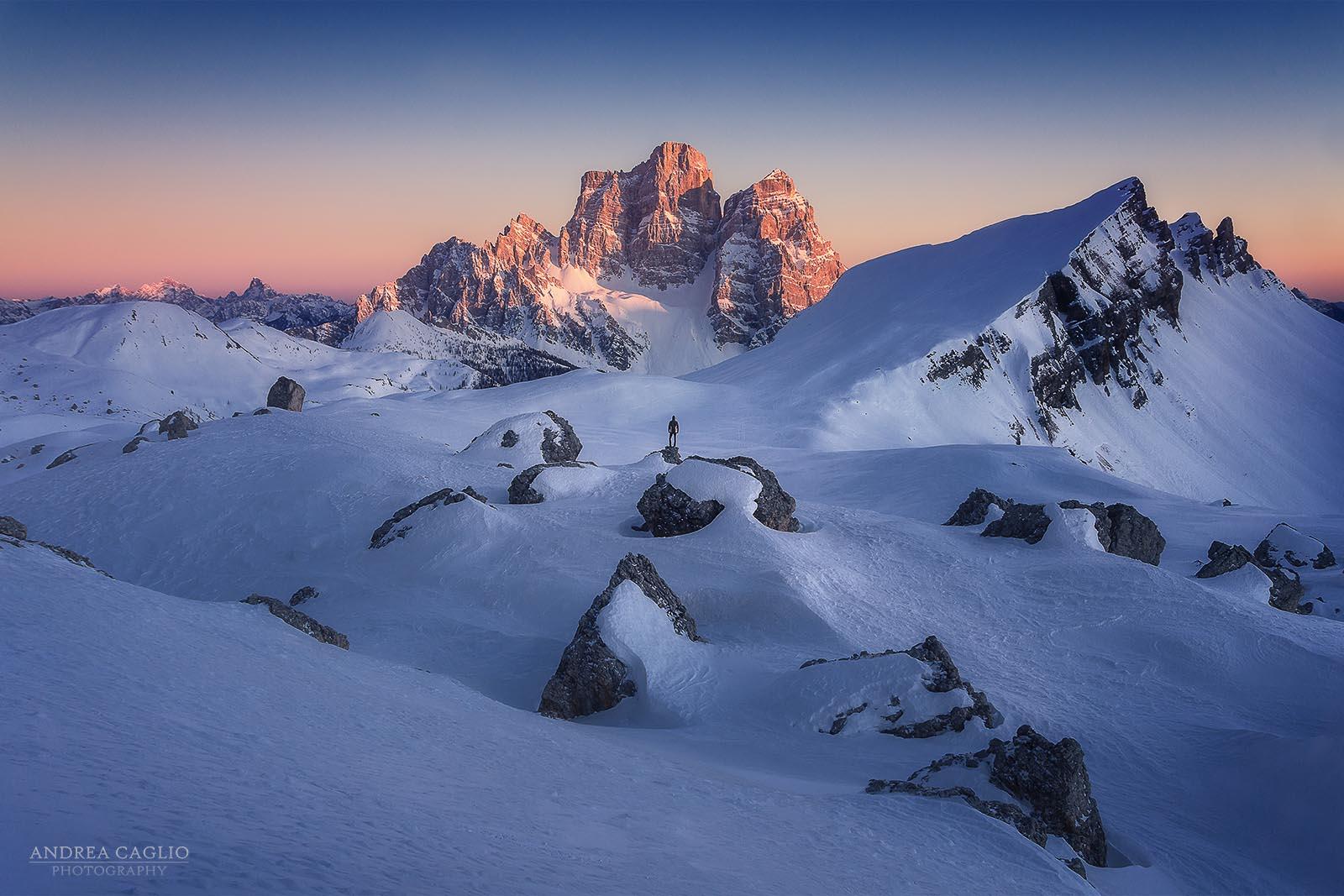 Andrea Caglio photography winter dolomites gallery